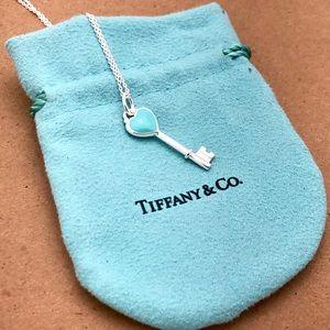 Tiffany & Co. Silver Heart Key Necklace